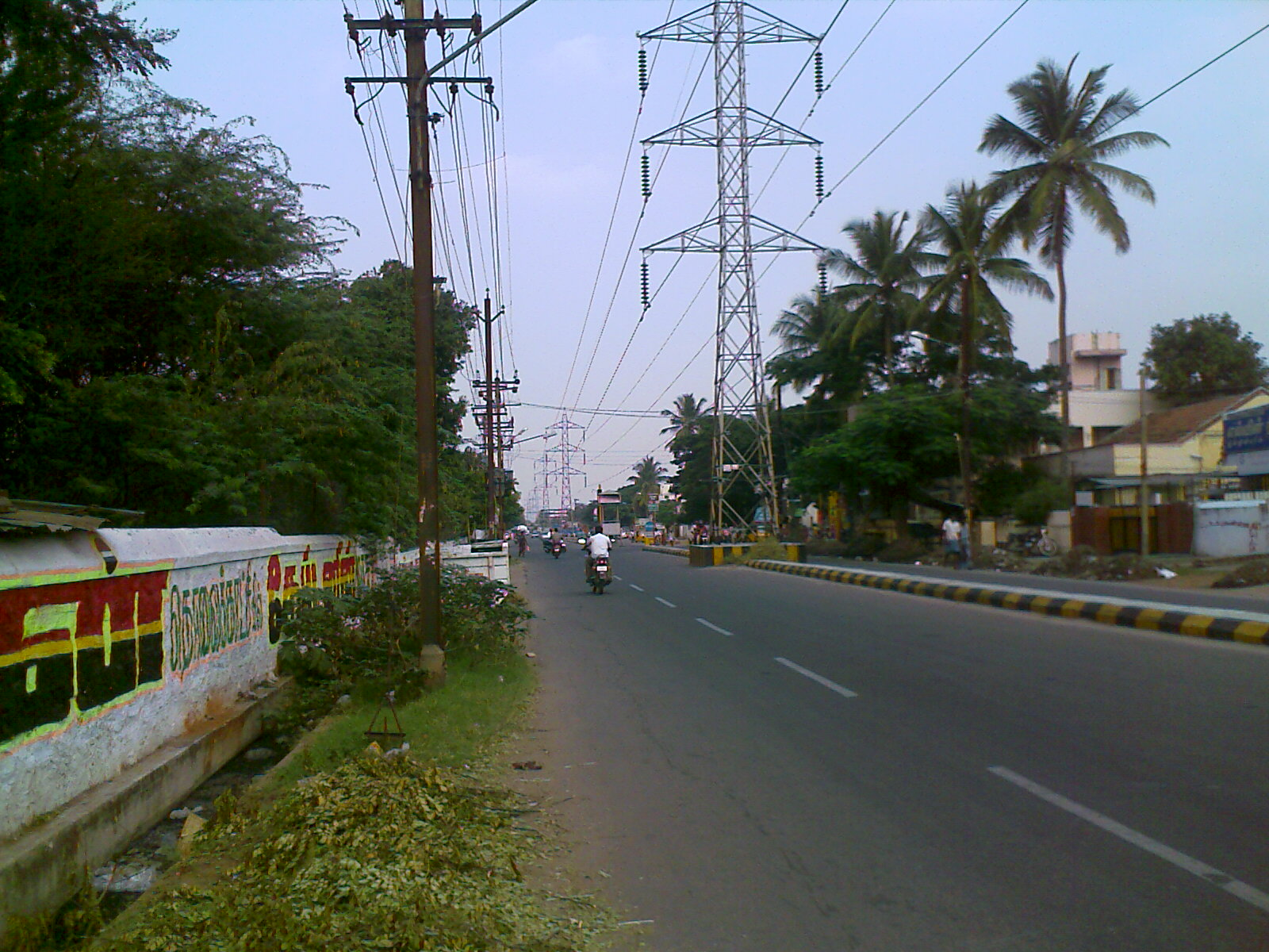 HT Cables going along the road in Cbe